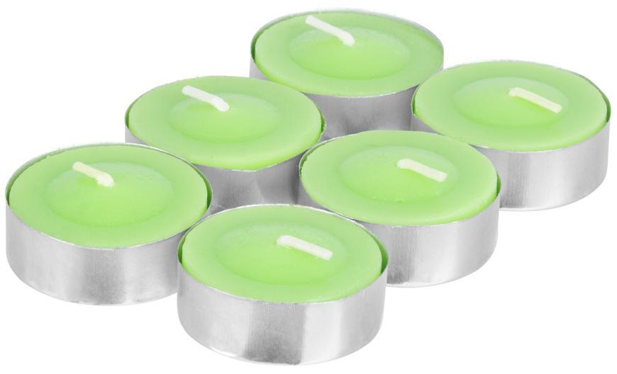Sviečka Citronella C-151, čajovka, zelená, bal. 6 ks