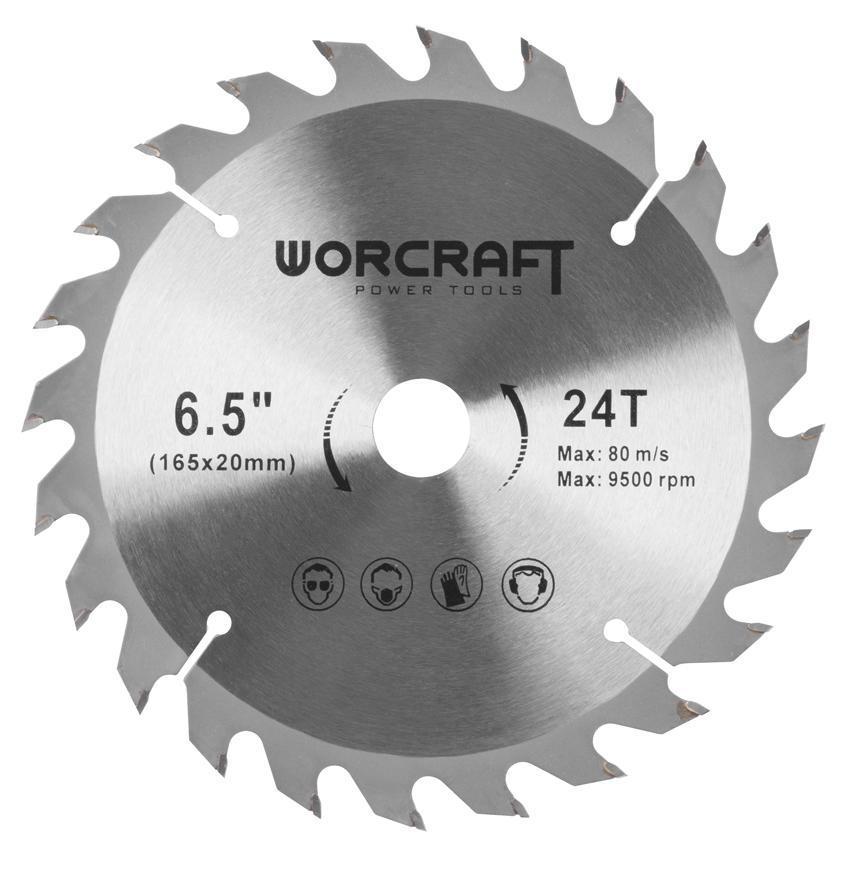 Kotúč Worcraft CCS-S20Li, 165 mm