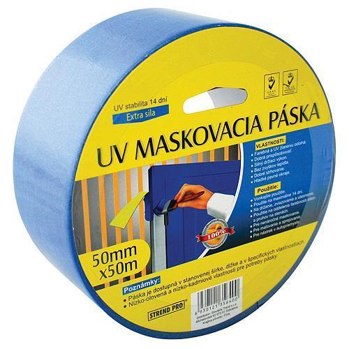 Paska Strend Pro, 50 mm, L-50 m, maskovacia, modrá, U.V.7-17, exteriér