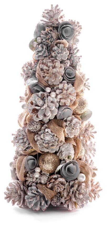 Stromček MagicHome, biely, 38x19 cm, prírodný