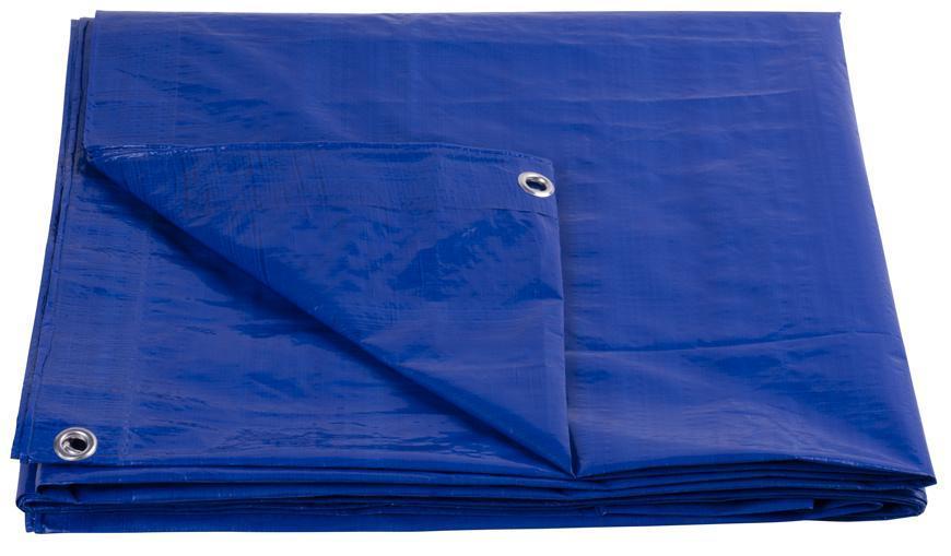 Plachta Tarpaulin Standard 05x08, zakrývacia, 80 g/m2, modrá