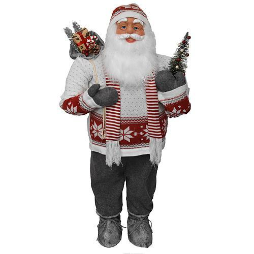 Dekoracia XmSA53, Santa so šálom, 080 cm