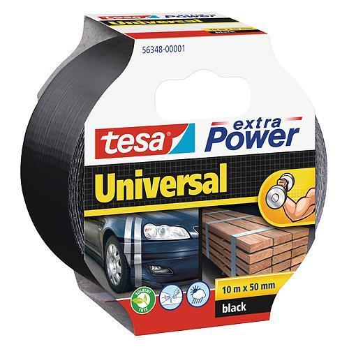 Páska tesa® Extra Power Universal, textilná, strieborná, 50 mm, L-10 m