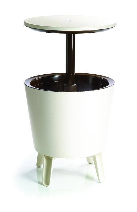 Bar Keter® COOL BAR, krémovo-hnedý, chladiaci, multifunkčný, záhradný, 49x49x57/82 cm