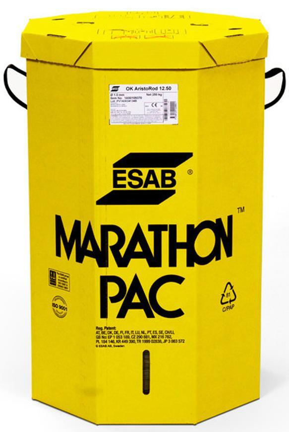 Drot ESAB OK Aristorod 12.50 1,0 mm • 250 kg, Maraton