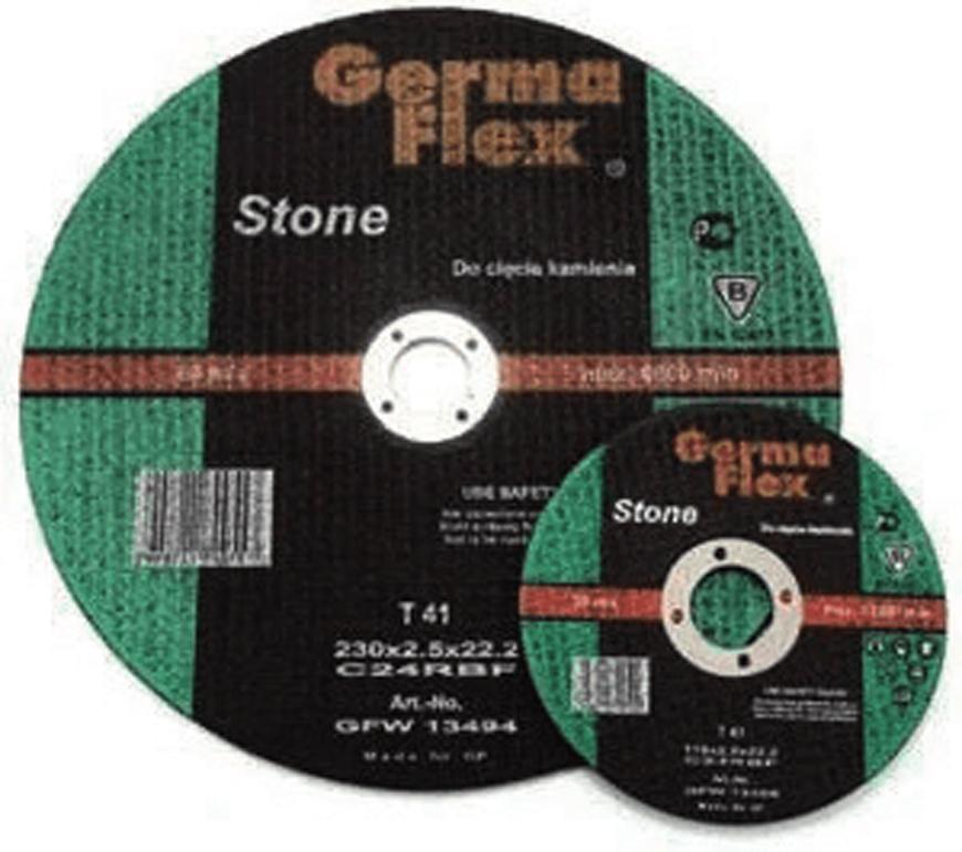Kotuc GermaFlex Stone T41 125x3,0x22,2 mm, C24RBF, kamen