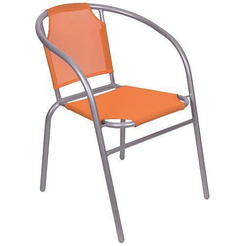 Stolička LEQ BRENDA, sivá/oranžová, 60x71 cm