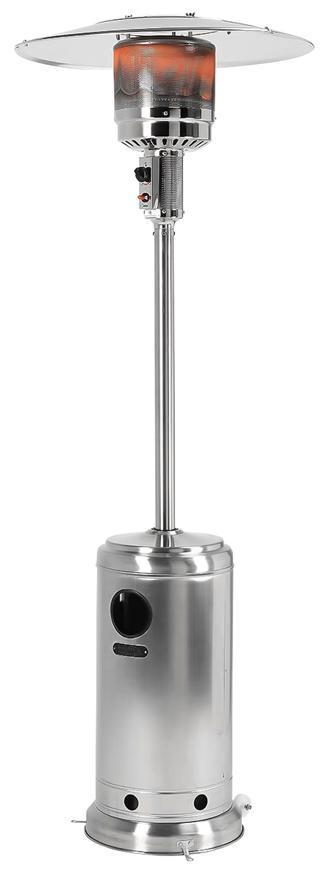 Ohrievač Strend Pro, terasový, nerezový, plynový, propán-bután, 13 kW, 450-945 g/hod