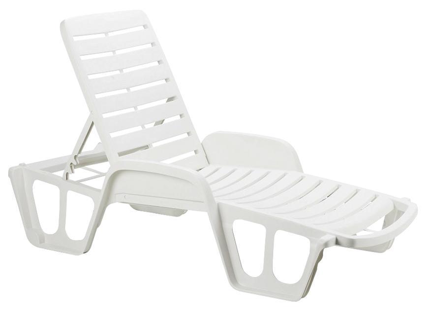 Lehátko LETTINO FISSO White, biele, 192x100x71 cm