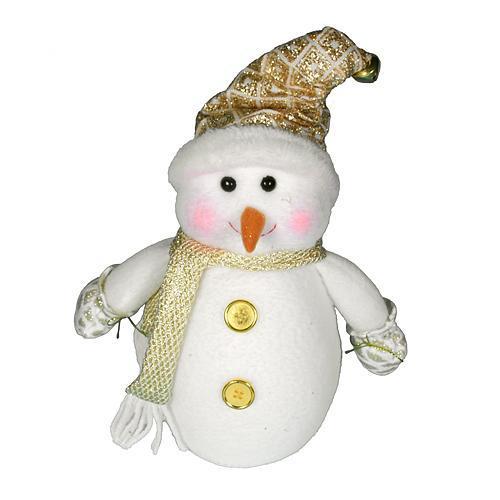 Postavička MagicHome Vianoce, Snehuliak, čiapka, 29 cm