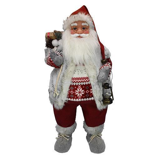 Dekoracia XmSA25, Santa, s vestou, 080 cm