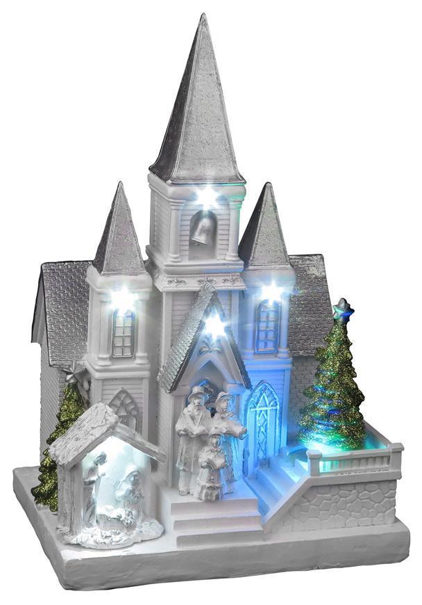 Dekoracia Xecco 9951, Kostol s betlehemom, LED, 3xAA