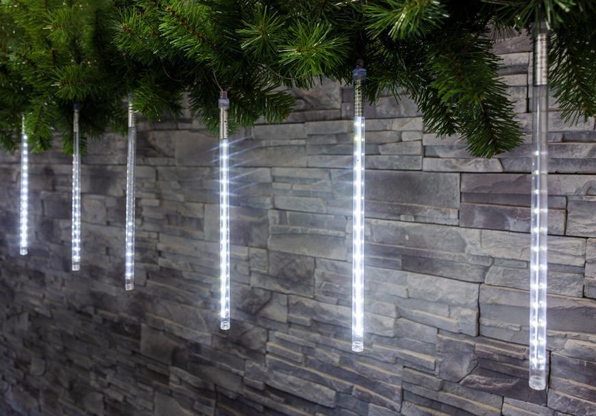 Reťaz MagicHome Vianoce Icicle, 720 LED studená biela, 24 cencúľov, vodopádový efekt, 230 V, 50 Hz,