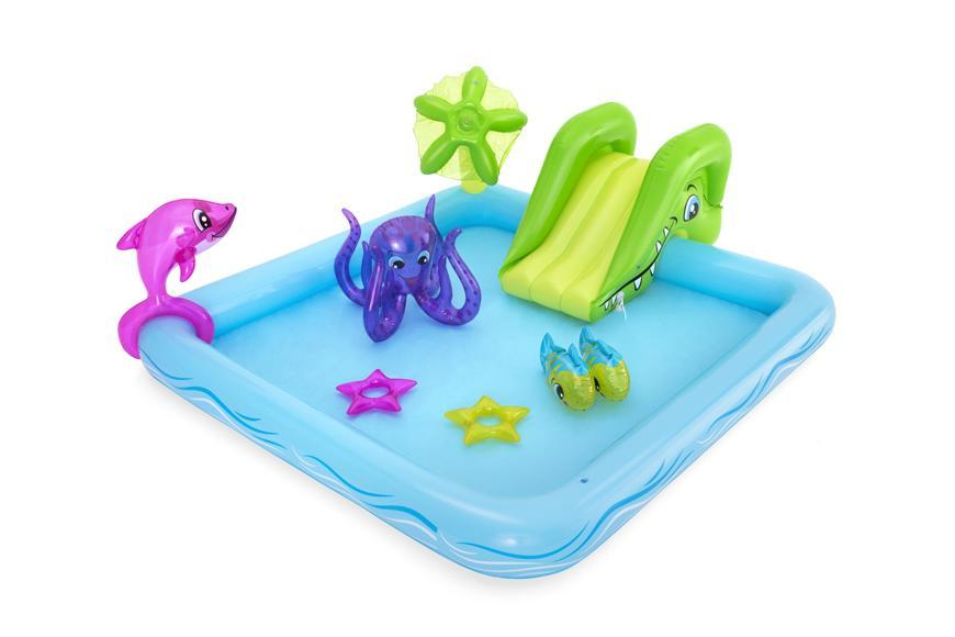 Bazénik Bestway® 53052, Fantastic Aquarium, detský, nafukovací, 2,39x2,06x0,86 m