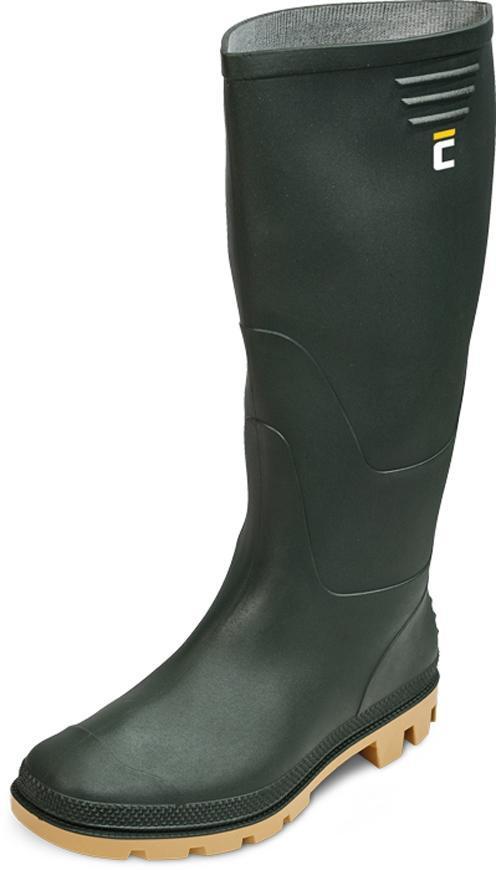 Čižmy boots Ginocchio, olivová 46, Pvc, záhradné