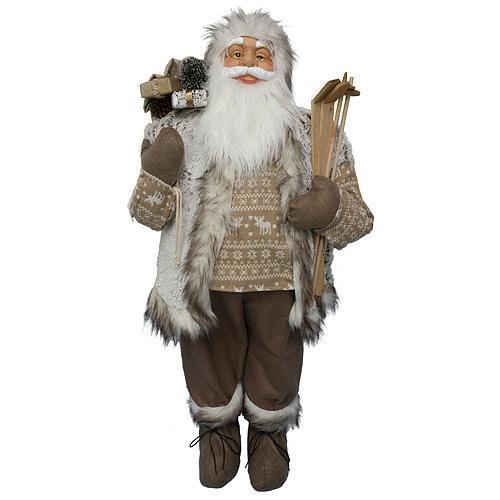 Dekoracia XmSA26, Santa, hnedý, 120 cm