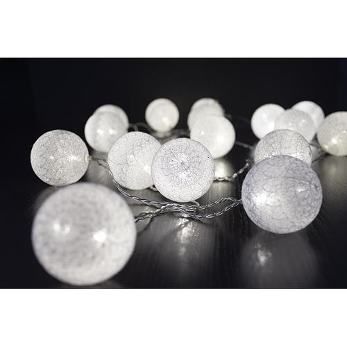 Reťaz MagicHome Cottonball, White, 16 LED teplá biela, IP20, jednoduché svietenie, L-3 m