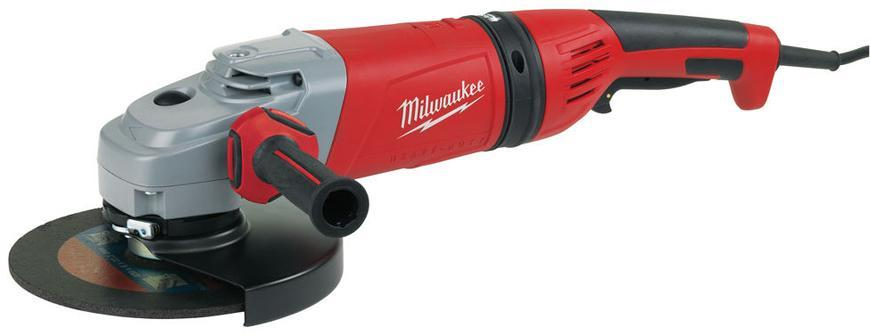 Bruska Milwaukee® AGVM 24-230 GEX/DMS, 230 mm, 2400W, B-Guard, uhlová