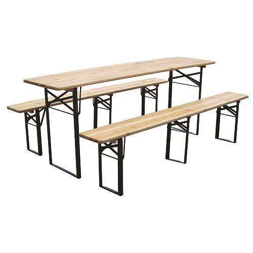 Set pivný DORTMUND Max, stôl 220x70x77 cm, 2x lavica 220x25x47 cm, drevo 27 mm