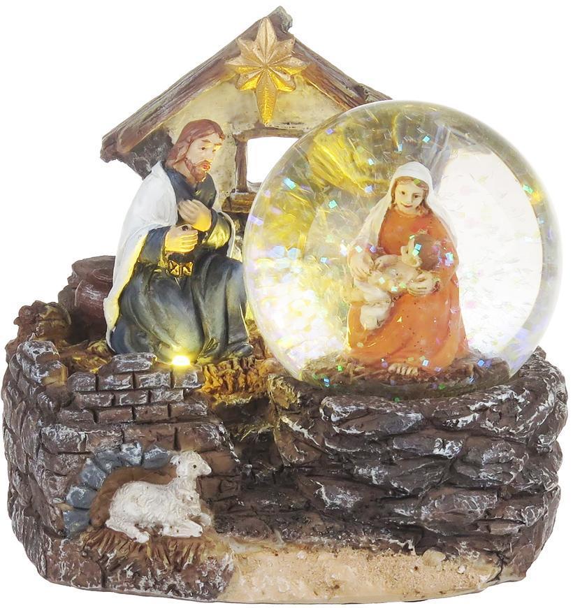 Dekorácia MagicHome Vianoce, Betlehem, 2 LED teplá biela, 2xAAA, interiér, 11x9,50x10 cm