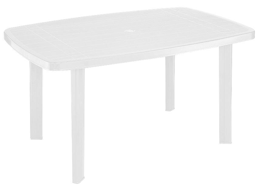 Stôl FARO White, biely, 137x85x72 cm
