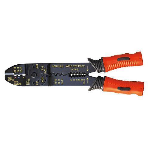 Kliešte Strend Pro CT8008, 225 mm, elektrikárske, odblankovacie, krimpovacie, na káble, 0,75-6.0 mm