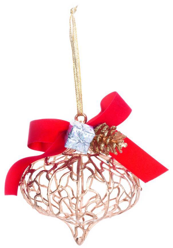Ozdoba MagicHome Vianoce, zlatá, 10x15 cm