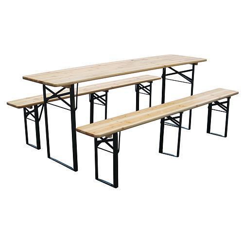 Set pivný DORTMUND Standard3, stôl 175x46x77 cm, 2x lavica 175x23x47 cm, drevo 25 mm