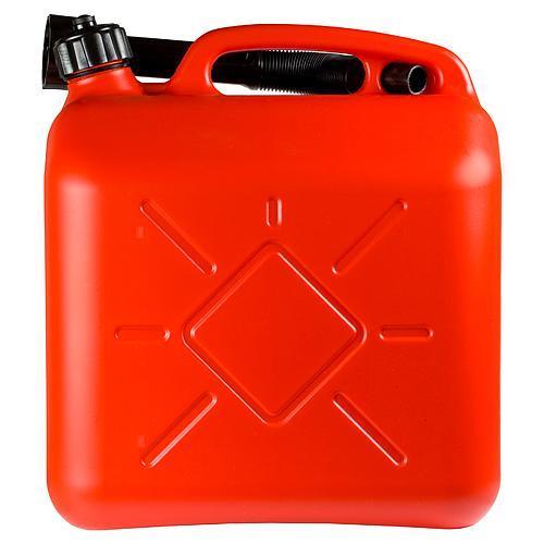 Kanister HOLECZECH plastový, 10 lit, na PHM, červený