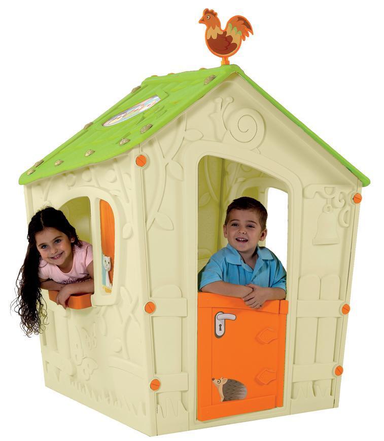 Domček Keter® MAGIC PLAYHOUSE, ecru/zelená, detský