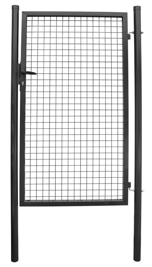 Brana METALTEC ECO 1000/1800/50x50 mm, záhradná, antracit, ZN+PVC, RAL7016