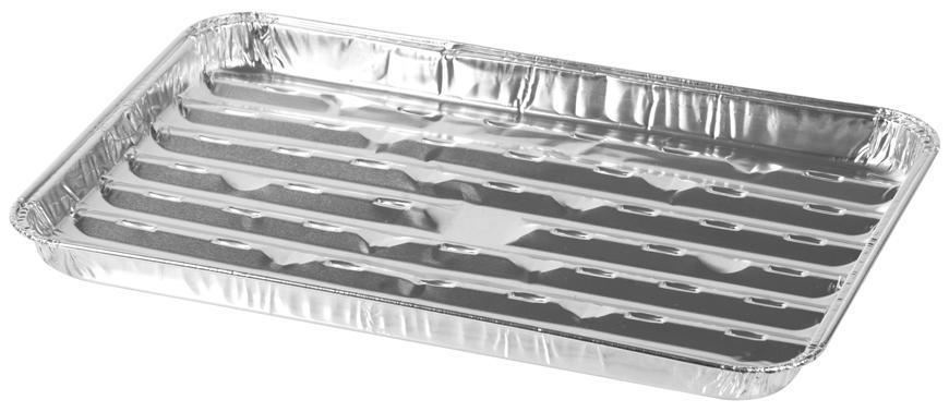 Miska MagicHome 34x23x2.5 cm, 3 ks, obdĺžniková, perforovaná, ALU