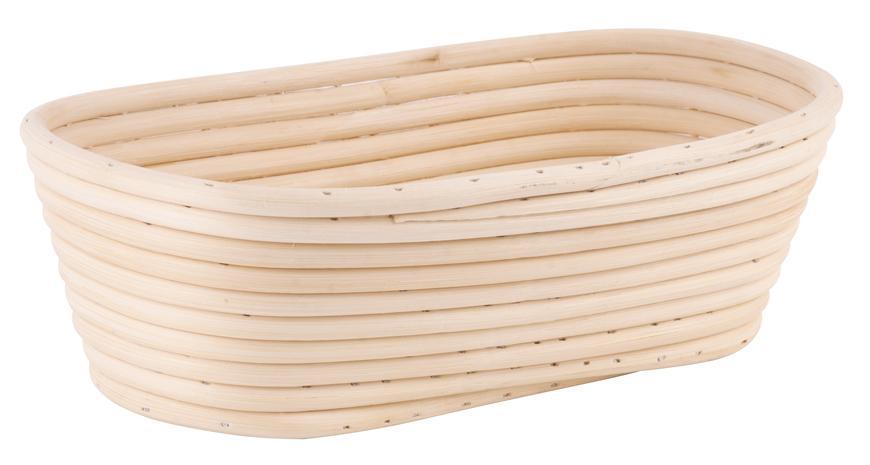 Ošatka ratanová MagicHome, na kysnutie chleba, max.700 g, 30x14x7 cm, oválna