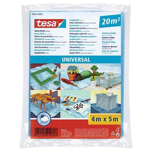 Fólia tesa® Universal, zakrývacia LDPE, pevná 17mi, modrá, 5x4 m