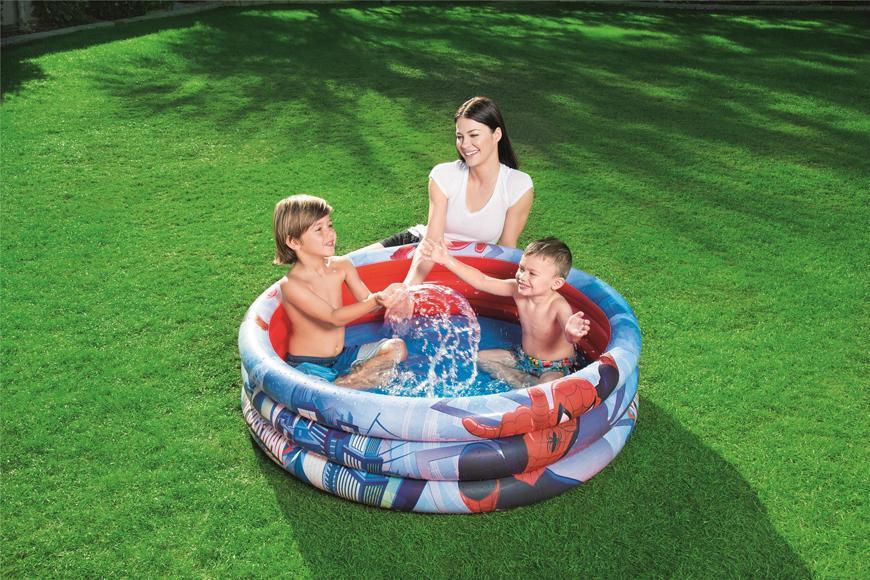 Bazénik Bestway® 98018, Spider-Man, detský, nafukovací, 1,22x0,30 m