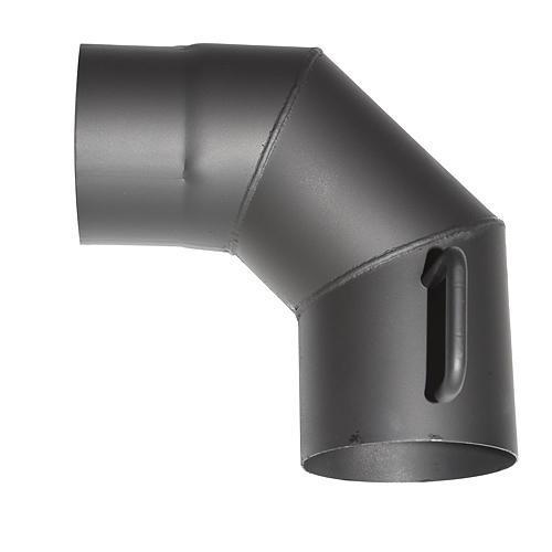 Koleno HS.K 090/160/2,0 mm, s klapkou a cistiacim otvorom