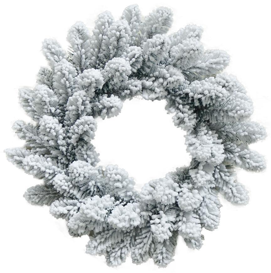 Veniec MagicHome Vianoce, prírodný, zasnežený, 45 cm