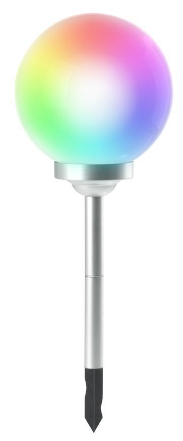 Lampa Solar Rainbow, 4-farebné LED, 30x73 cm