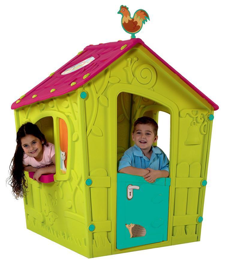 Domček Keter® MAGIC PLAYHOUSE, zelená/ružová, detský