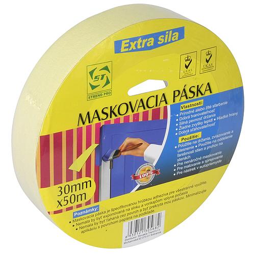 Páska Strend Pro, 30 mm, L-50 m, Krep, maliarska, maskovacia