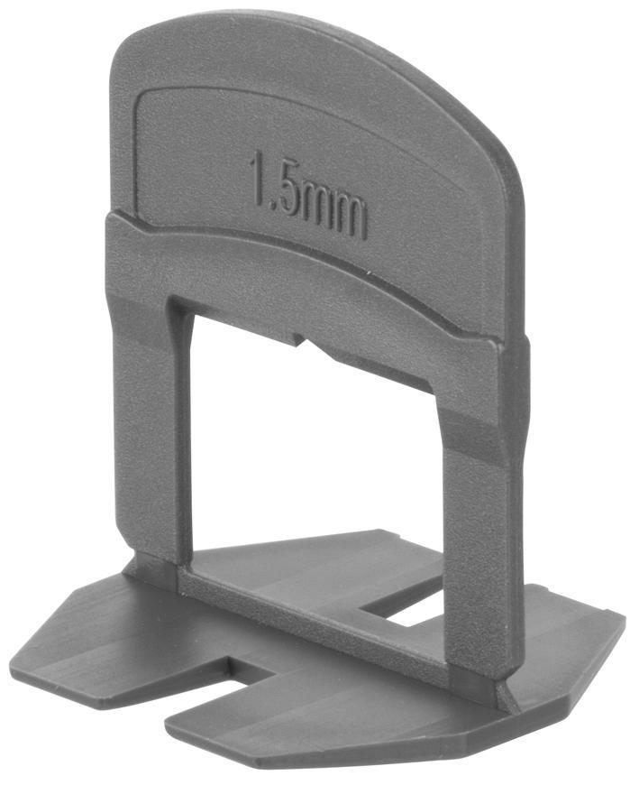 Medzerník Strend Pro LS230T, nivelačný, pod obklad, 1.5 mm, bal. 300 ks, plast sivý