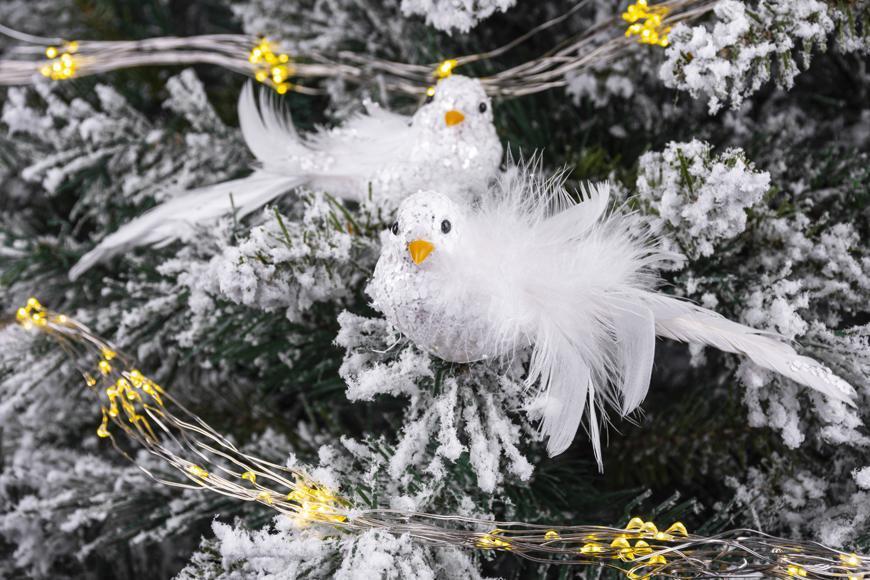 Vtáčatká so štipcom MagicHome, biele, pár, 15x5x5 cm