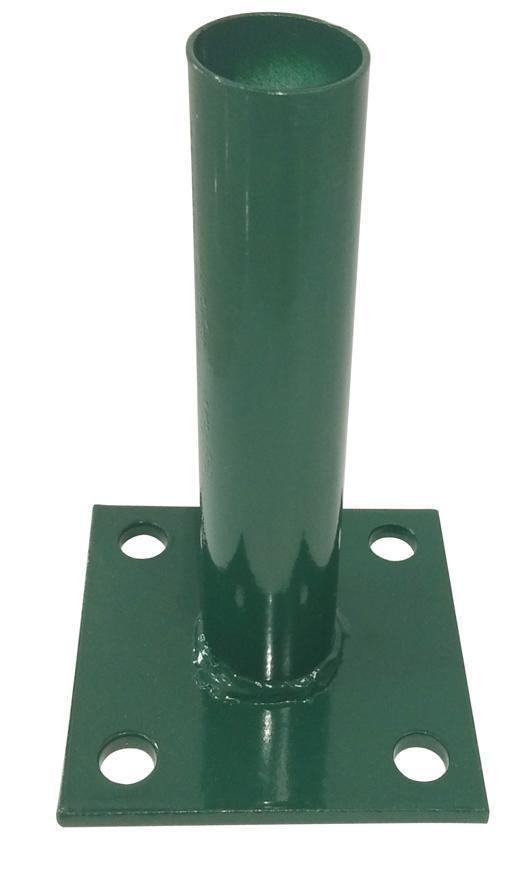 Pätka METALTEC, pre okrúhly stlpik 38mm, zelena, RAL6005, na ukotvenie, max. 150cm