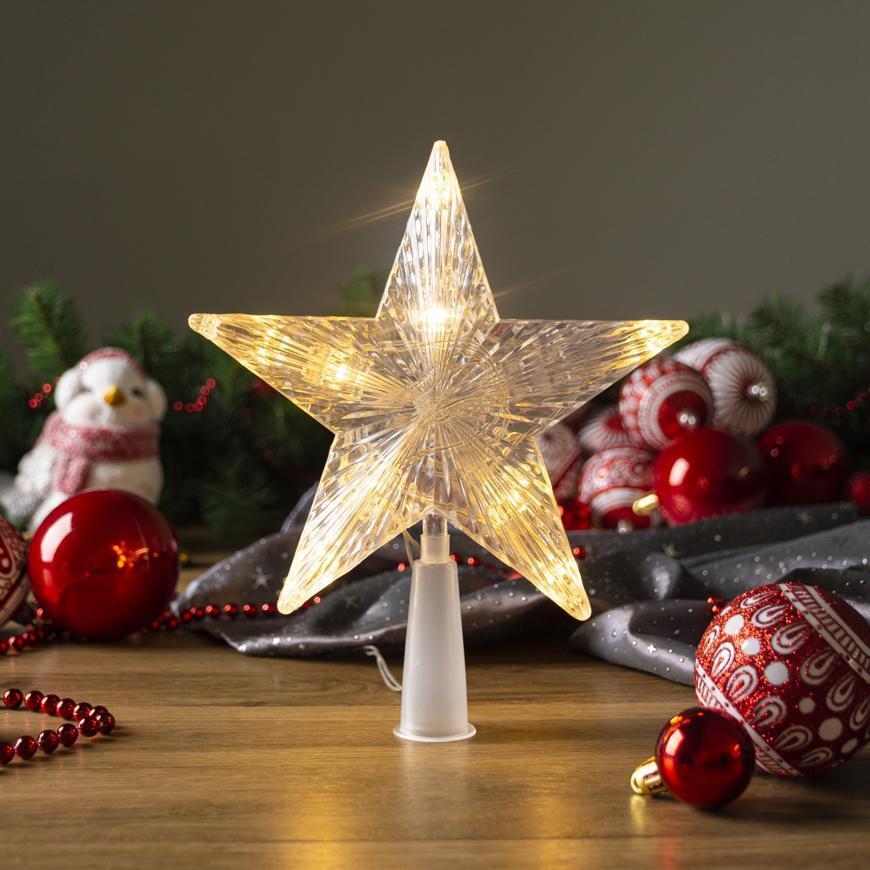 Hviezda MagicHome Vianoce, 10 LED, zlatá, 2xAA