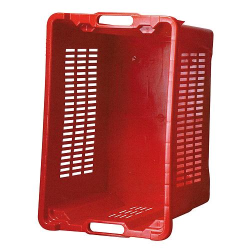 Prepravka ICS M401000, 40 lit, 56x35x31 cm, perforované steny, červená