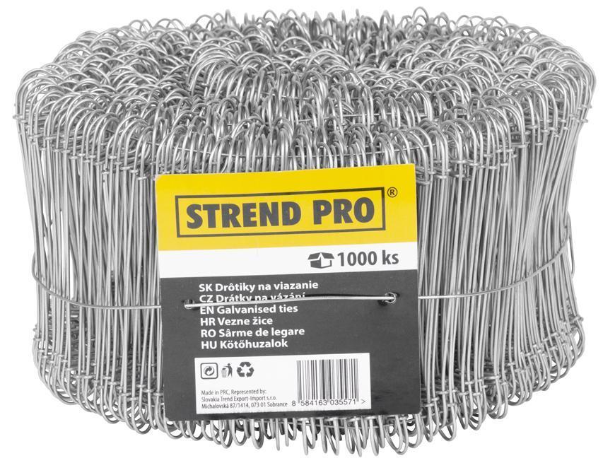Drôt Strend Pro WGT10, 1.1x160 mm, na viazanie, 1000 ks, ZN