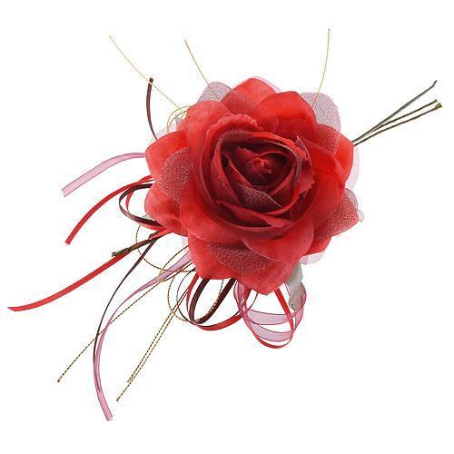 Kvet ruža, červená, stonka, bal. 6 ks