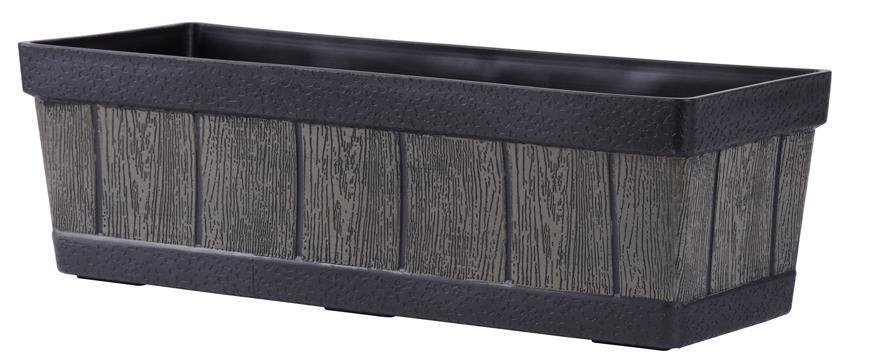 Kvetinac GDA Woodeff 816, natural, 46x17x14 cm