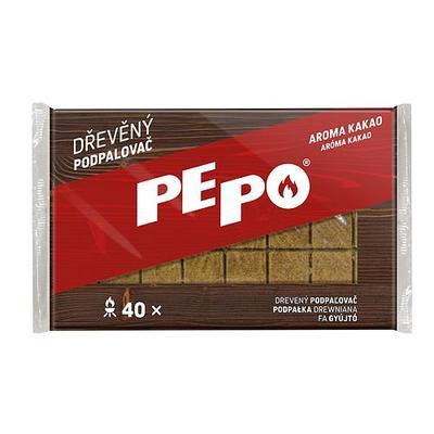 Podpalovac PE-PO®, drevný, 40 podpalov NEW