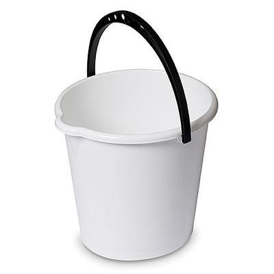 Vedro DEAhome Secchio 10 lit, biele, s výlevkou